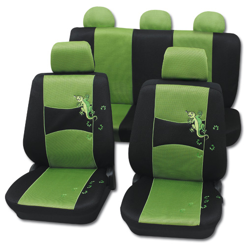 sitzbezug sitzbez ge gecko gr n skoda octavia fabia neu ebay. Black Bedroom Furniture Sets. Home Design Ideas