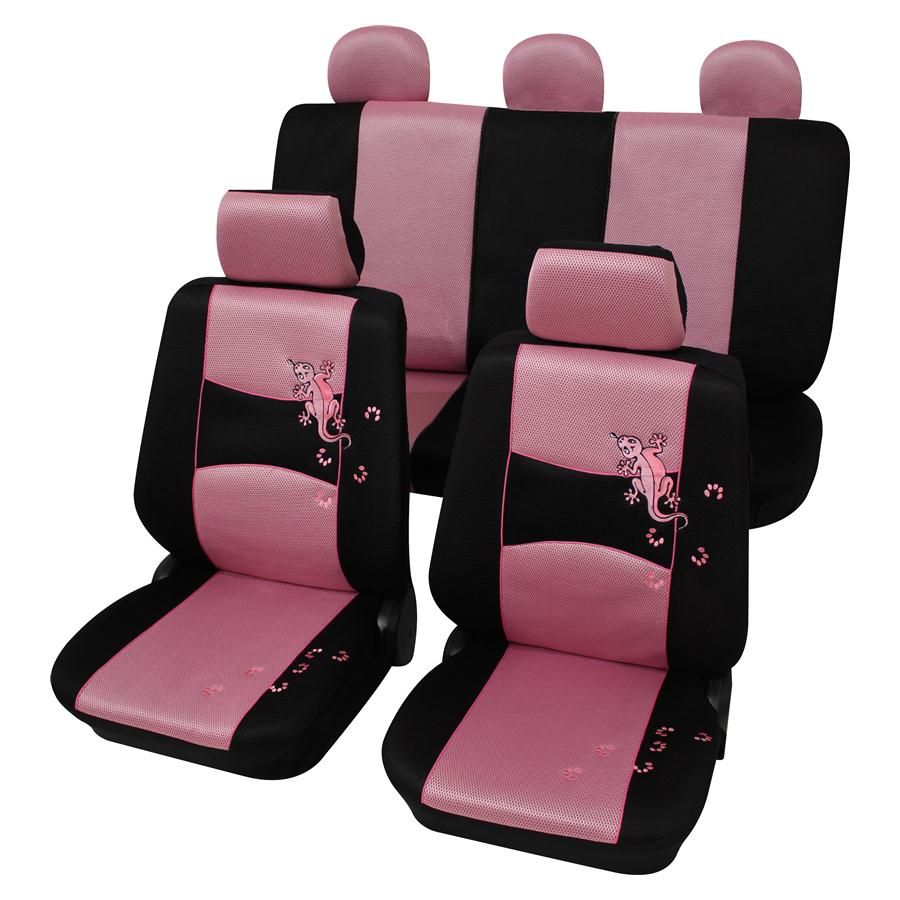 sitzbezug sitzbez ge gecko pink rosa vw golf 1 2 3 4 ebay. Black Bedroom Furniture Sets. Home Design Ideas