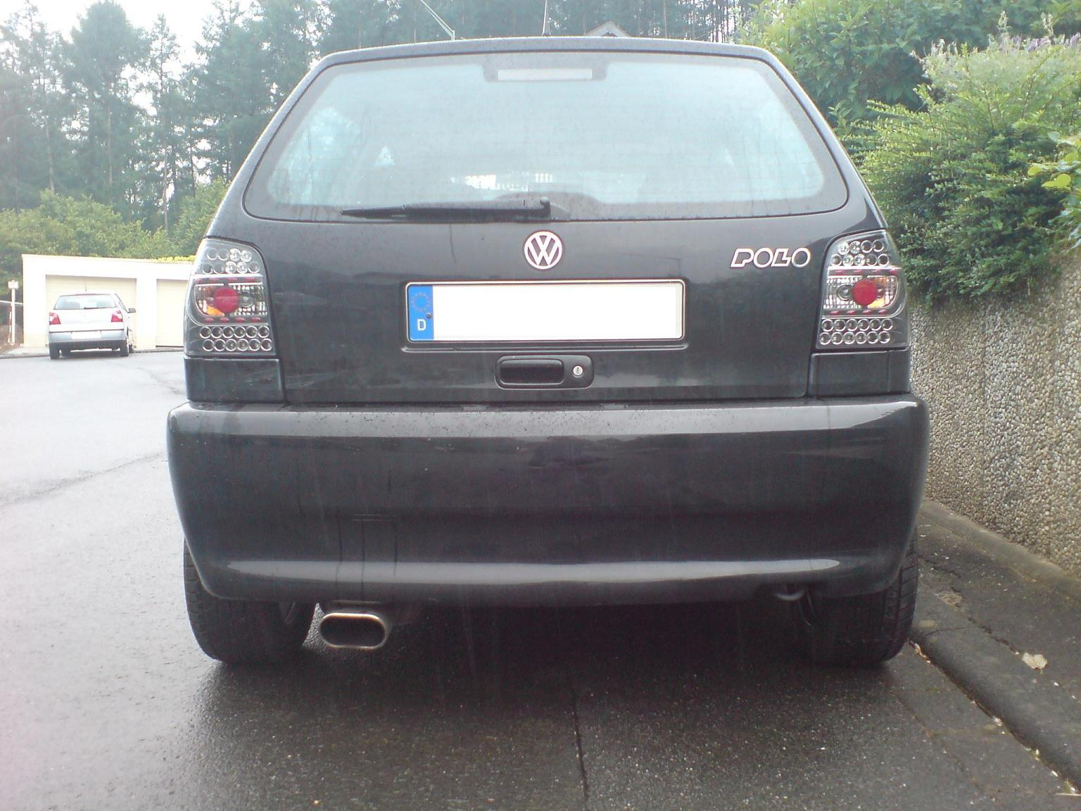 led r ckleuchten angel eyes scheinwerfer vw polo 6n bla ebay