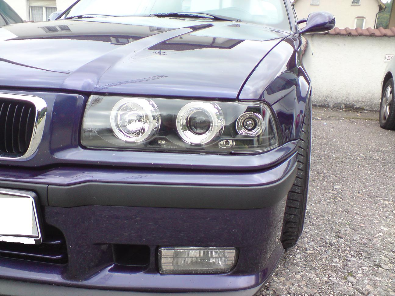 led r ckleuchten angel eyes scheinwerfer bmw e36 4d b ebay. Black Bedroom Furniture Sets. Home Design Ideas