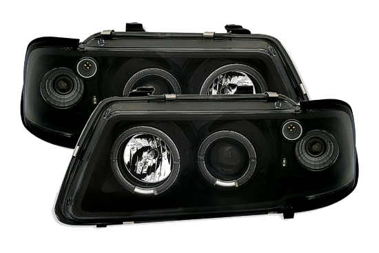 scheinwerfer angel eyes audi a3 8l schwarz neu sonar ebay. Black Bedroom Furniture Sets. Home Design Ideas