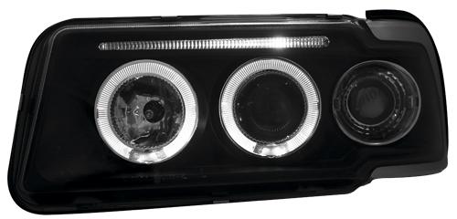 scheinwerfer angel eyes audi 80 b4 schwarz neu top jy ebay. Black Bedroom Furniture Sets. Home Design Ideas
