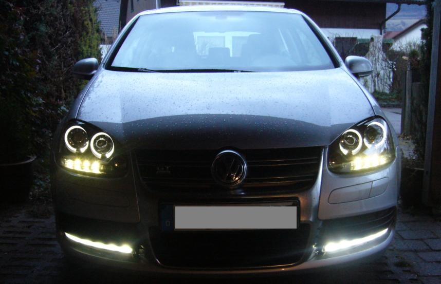 led r ckleuchten angel eyes scheinwerfer vw golf 5 bla ebay. Black Bedroom Furniture Sets. Home Design Ideas